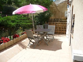 Apartment well equipped, in a quiet pine forest,