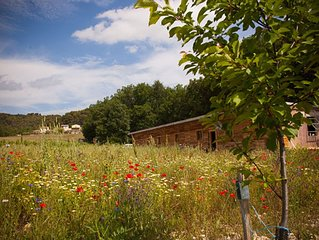 Holiday house in nature. Supply of UNESCO Biosphère Luberon-Lure. Forcalquier.