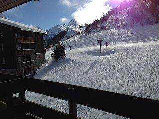 Duplex 2 chambres + mezzanine 6 pers ski aux pieds meribel mottaret 3 vallées