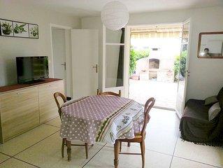 rez de villa type F2 de 40 m2 avec terrasse et jardin prive de 30 m2