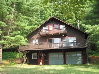 Brant Lake 5 BR Chalet - Beach Waterview - Lake Rights - Dock