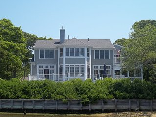 Stunning Waterfront Home W/ Dock, .5 Mi To Private Beach & Pool, Sleeps 10-12