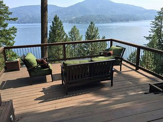Charming A-Frame Lakefront Hayden Lake Cabin With Additional Guest Quarter Cabin