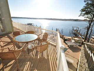 Waterfront With Pool, Dock, Bar, FP, Sm Beach  - 4 Bd, 5 Ba, 3 Levels, Sleeps 1