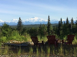 Talkeetna- private spot with full view of the Denali range
