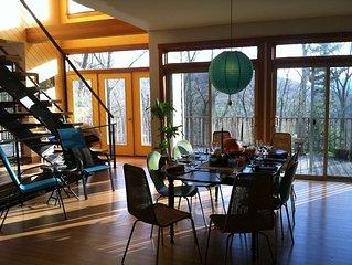 Light Filled Catskills Mount Tremper Modern Family Home