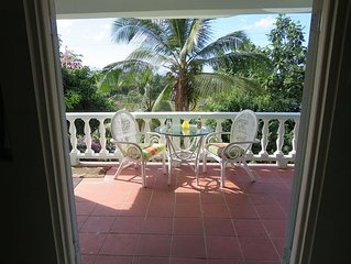 Garden view suite 200 meters from a beach near capital city of Castries.