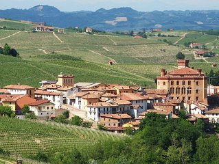 Center of BAROLO - Private Apt w/Huge Terrace w/ 360 degree views of vineyards!