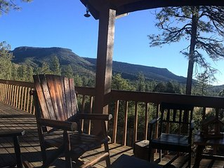 Family Friendly Log Cabin With A View Of The Mogollon Rim