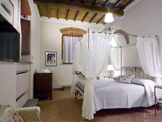 Ultra Stunning 2 Br Apt In Tuscany, With Pool, Stoned Arch And  Wooden Beams.