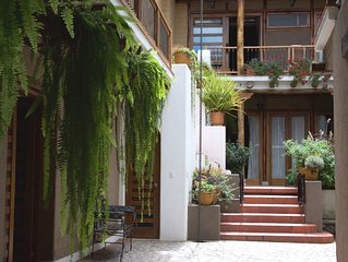Vicuña!  Studio flat with its own balcony overlooking the garden.