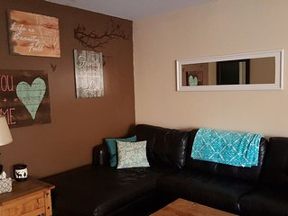 800sft. 2 bedroom- has everything just bring your clothes