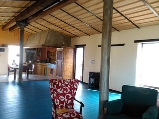 house loft, 100 square meters diaphanous in rural area.