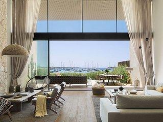Casa de diseno sobre la playa con limpieza diaria