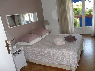 Spacious apartment close to beach, easy access to Nice and Monaco