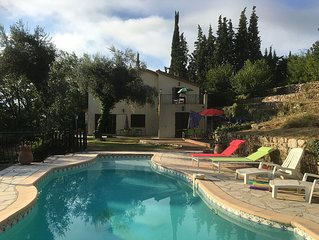 Family Villa in Opio, Cote D'Azur with private pool