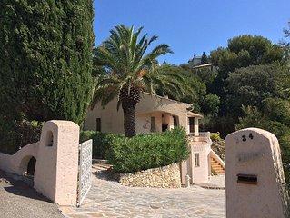 VILLA Provencale View panoramic Golf de St Tropez 800m from the beach Per 8/10