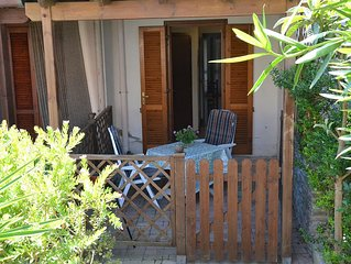 Casa Cala S. Andrea: nice 2 bedroom, 2 baths with patio and large living room