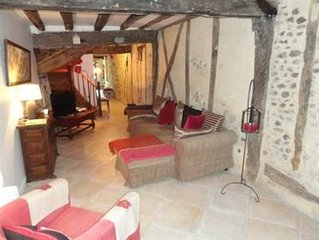 Traditional French Town House In Village Of Mirepoix.