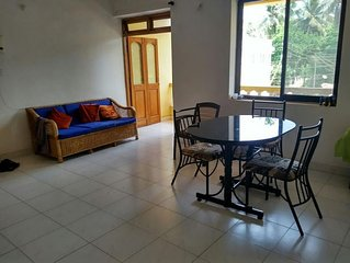 Goa, Siolim, spacious 2 bedroom Apartment, front + rear balconies
