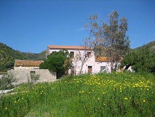Traditional Sardinian Farm House, Terrace, Garden