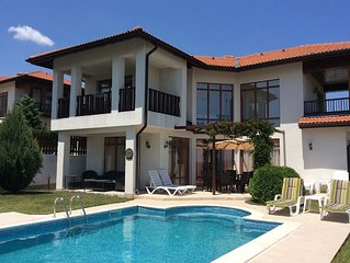 Beautiful detached villa with private pool, garden and sea view.