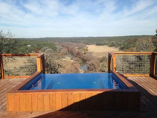 Hill Country Getaway On Beautiful Ranch Perched On A Cliff Over The Guadalupe R.