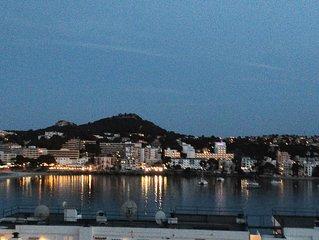 Gut gelegenes, geraumiges Apartment mit Meerblick uber  Bucht von Santa Ponsa
