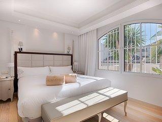 Suite in Strandnähe mit 1 Schlafzimmer, Wohnzimmer, Bad, Balkon oder Terasse