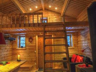 Uriges Ferienhaus in den Waldern Lapplands am Fluss gelegen