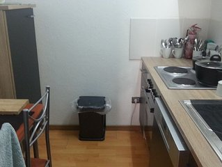 60m2 Apartment with small kitchen and bathroom and 2 bedrooms and sat TV