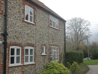 Traditional Norfolk Brick and Flint Farmworkers' Cottage