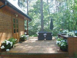 Wilga: maison de campagne en pleine foret dans le sud-est de Varsovie