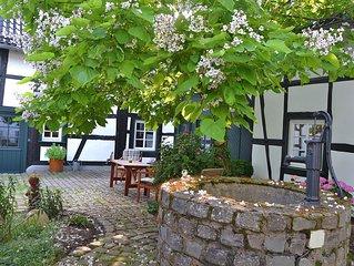 4-Sterne-Ferienwohnung in wunderschonem Fachwerkhaus mit Innenhof