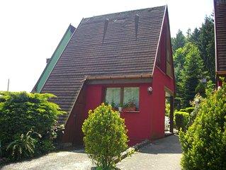 Quiet cottage, flowery, parking, private terrace, near Colmar