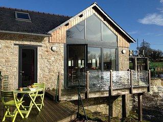 Maison sur la rivière, au cœur de la campagne Bretonne