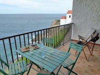 Villa face a la mer pour les vacances.