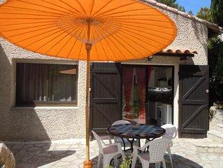 Appartement Rez de Villa Terrasse, Carnoux en Provence   plages Cassis