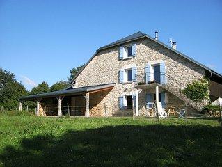 Gite de La Bertiniere au sud du massif du Jura, a 1h. de Lyon, Geneve, Annecy...