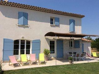 Mas familial de charme climatise a Pernes les Fontaines - piscine privee,wifi