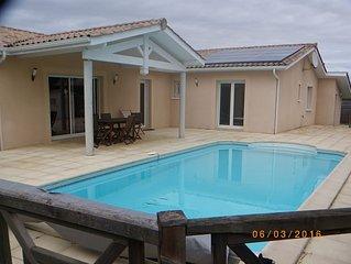 maison recente, 5 chambres avec piscine