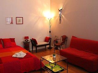 Bastille/Marais/Place des Vosges, charmant appartement dans cour arboree, calme