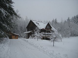 Upper Jay Timberframe on Spacious Open Land with Views