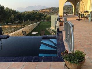 Modern Seacoast Villa In Crete's Western Olive Region.