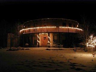 Redhawk Retreat - Artist-built cordwood cabin