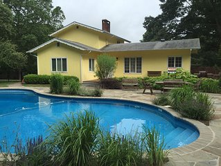 Landscaped Shelter Island Cottage with Pool & Hot Tub