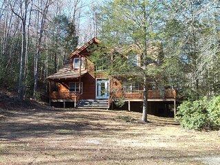 Log Home on Barney Creek, Coker Creek/Tellico Plains area