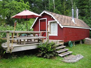 KEMA  Hornby Island - Cabin - across the road from our property waterfront acces