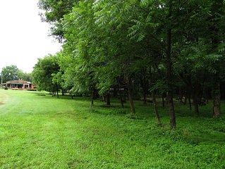 Cabin on 26 acres of old growth forest close to lake and 20 min. to OU