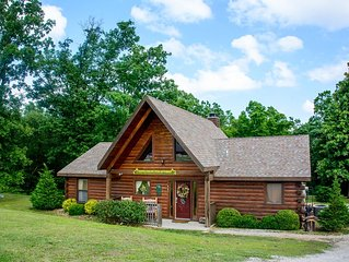 True Log Home Experience, 3 Bdr/2Ba